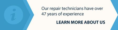 our repair technicians have over 47 years of experience - learn more about us 1
